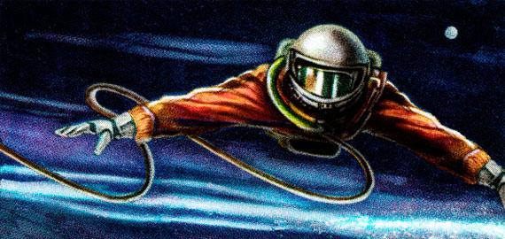 Adrián Fernández Milanés (CU)Cosmonaut (in search of orientation), Inkjet print on metallic paper, 150 x 300 cm