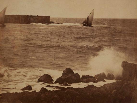 12. Gustave Le Gray (1820-1884)La Vague brisée. Mer Méditerranée n°15, printemps 1857.Albumen print.