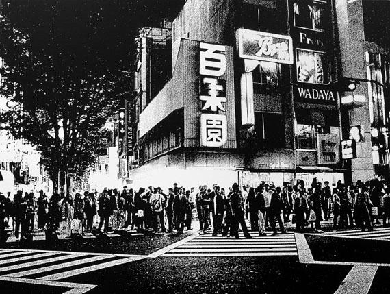 Silhouette in the Night, 2000Silkscreen on canvas47 1/4 x 62 2/3 in. (120 x 159 cm.)Edition of 3© Daido Moriyama