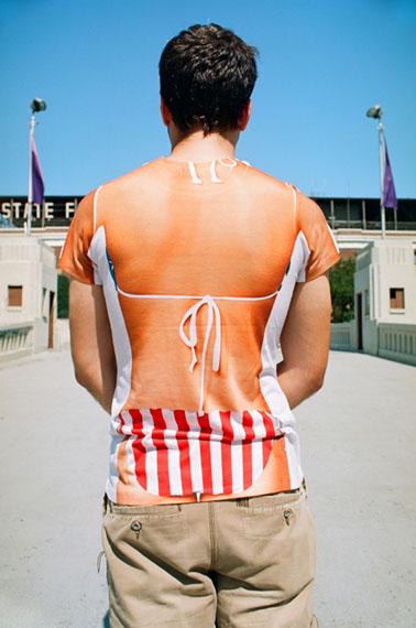 "Susan Barnett, ""Not In Your Face"", Striped Bikini, © Susan Barnett, Courtesy ClampArt, NY"