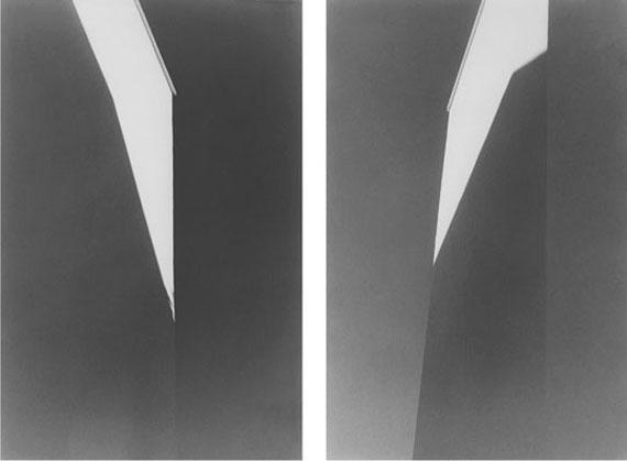 """Yannig Hedel: """"Les-Eclats-Blancs, 1-2"""", Vintage silver gelatin prints (1995), 56 x 36 cm each, Edition #1/8"""