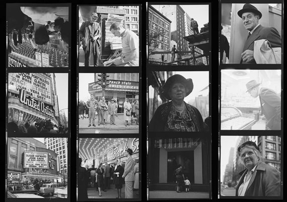 Vivian Maier: Kontaktbogen, Chicago, 1961 © Estate of Vivian Maier, Courtesy of Maloof Collection and Howard Greenberg Gallery, NY