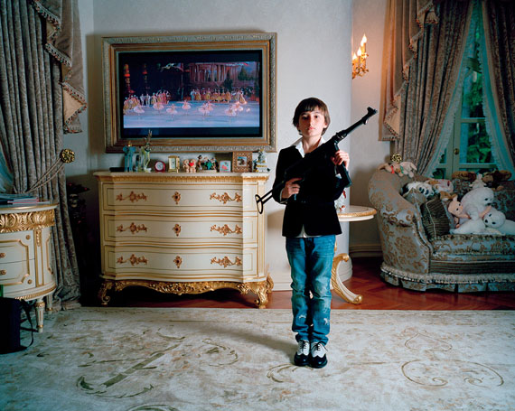 Anna Skladmann, Jacob shooting at ballerinas, Moscow 2009, from the series Little Adults