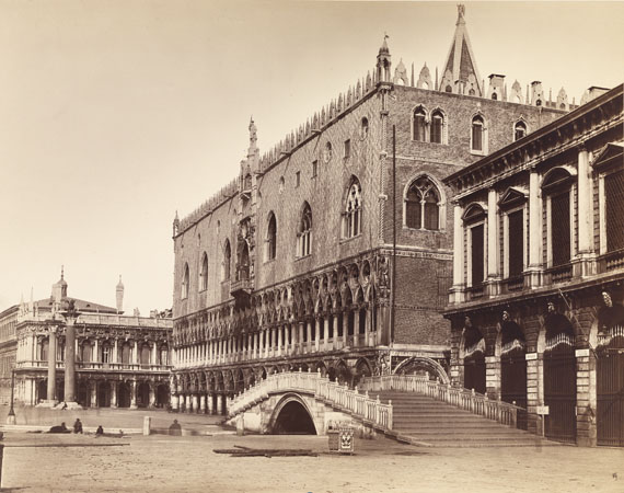 Venice, Doge's Palace with the Ponte della Paglia, Print after 1877albumen paper print mounted on card