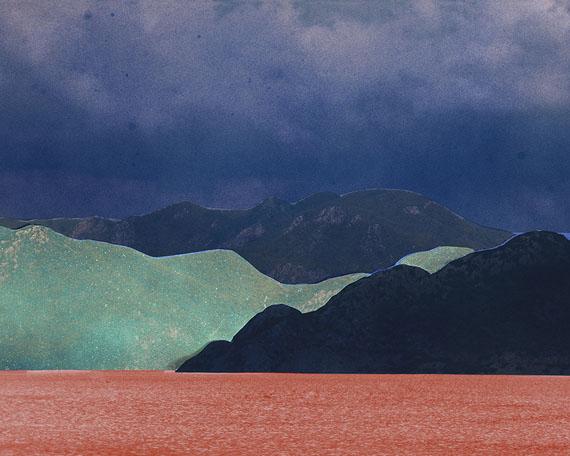 Douglas Mandry: Unseen Sights, Mountain Pass VIIIAirbrush on C-Print, 90 x 110 cm, Edition 5 & 1 AP