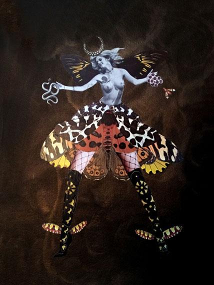 Deborah KellySpeaks-in-Tongues,2016-2017Collage, pure pigment, ink, on Garza handmade cotton paper31 x 40,5 cm