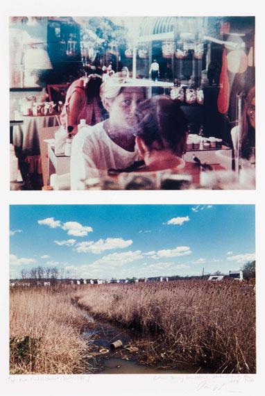 "Lot 48Dan Graham (b. 1941)""FAST-FOOD RESTAURANT, SEATLE, 1980"" / ""HOUSING NEAR MARSH, STATEN ISLAND, NEW YORK, 1997""DiptychC-print on cardboardSigned28,4x40,3 cm27,5x40,3 cm"