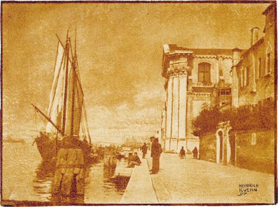 Heinrich KühnVenice. 1897. Vintage. Multiple gum print in brown on watercolour paper. 29 × 39.2 cmEUR 12,000–18,000