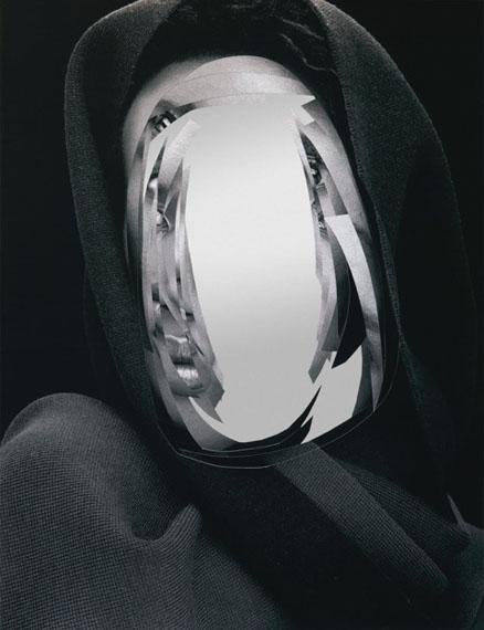 """Daniele Buetti, """"Are You talking to Me - G.J. """", 2018,  Pigmentprint, cut, mirror mounted, framed, 133 x 103 cm©Thorsten Brinkmann / courtesy FeldbuschWiesnerRudolph Gallery"""