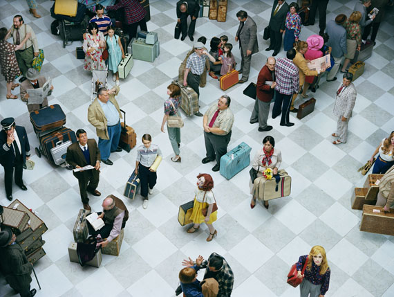 © Alex Prager, Crowd #7 (Bob Hope Airport), 2013, from the series Face in the CrowdCourtesy Alex Prager Studio and Lehmann Maupin, New York and Hong Kong