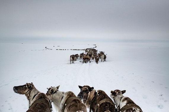Yamal Peninsula, April 2018 © Yuri Kozyrev / NOOR for Fondation Carmignac