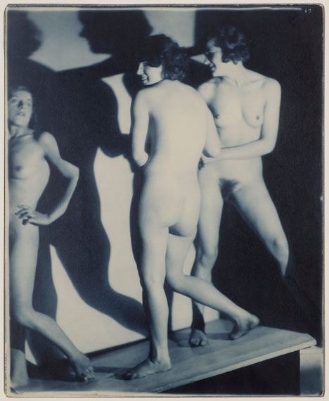 165. Frantisek Drtikol Les trois grâces, c. 1930. Vintage pigment print, signed.