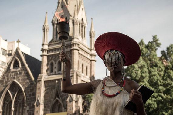 Untitled (Freedom Day) 2014 © Sethembile Msezane