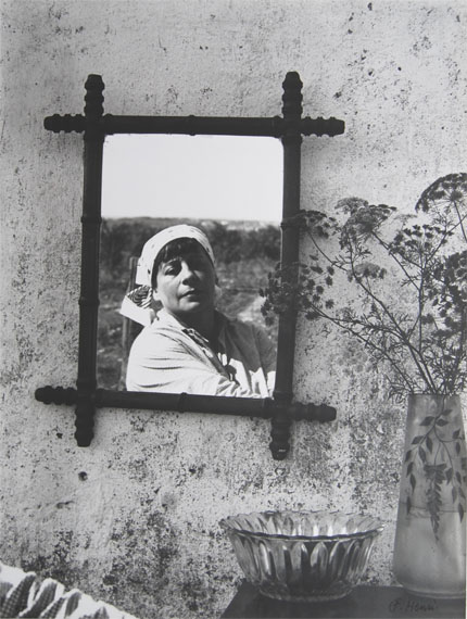 Florence HenriSelf-Portrait, 1938Gelatin silver print, printed 1975Signed on front, titled, dated, editioned on verso Edition 6 of 9 14.3 x 19 inches (36.5 x 48.5 cm)