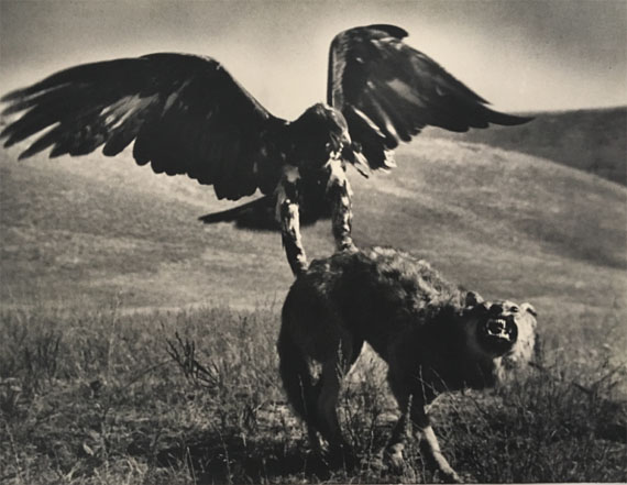 MAX ALPERTHunting with Golden Eagle, Kazakhstan, 1930sVintage or early period printStamp of M. Alpert and stamp of the Borodulin Collection on verso 30.4 x 40.2 cm