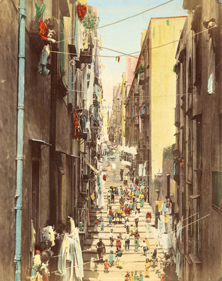 Giacomo Brogi: Neapel, Vicolo del Pallonetto in Santa Lucia, um 1880