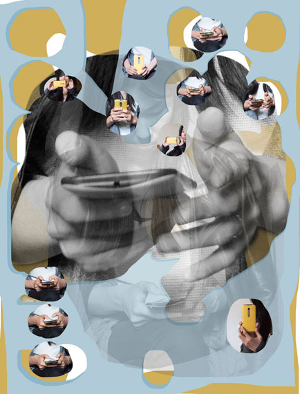 How to Get in Touch (E. With Her Smartphone), 2017  © Lilly Lulay