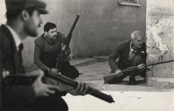 Gunmen, Limassol, Cyprus, 1964Vintage gelatin silver print © Don McCullin