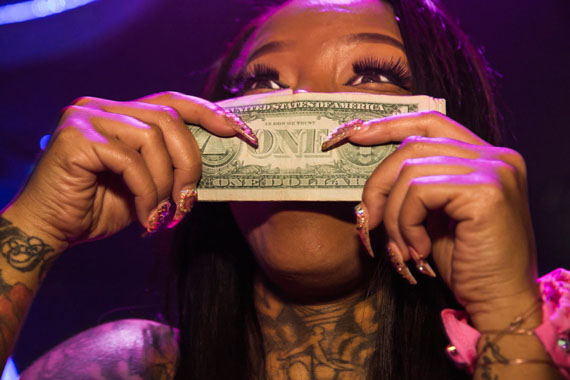 Lauren Greenfield: Secret Moneii, 28, a stripper at Magic City who made nearly $20,000 during her first week at the club, Atlanta, 2015 Before coming to Magic City, the single mother of two was struggling, working two jobs.Credit: Lauren Greenfield/INSTITUTE © Lauren Greenfield