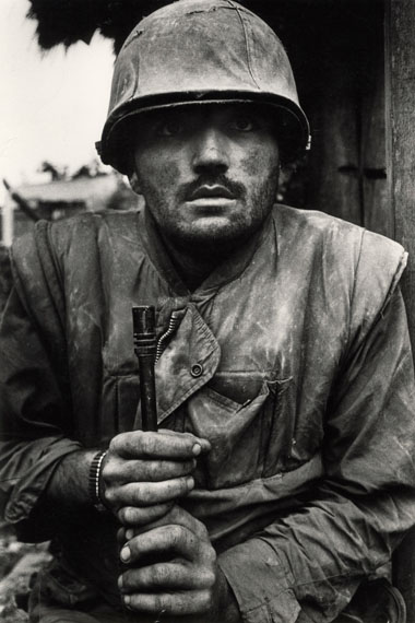 Shell Shocked Marine, Hue, Vietnam, 1968 © Don McCullin, Courtesy Hamiltons Gallery, London