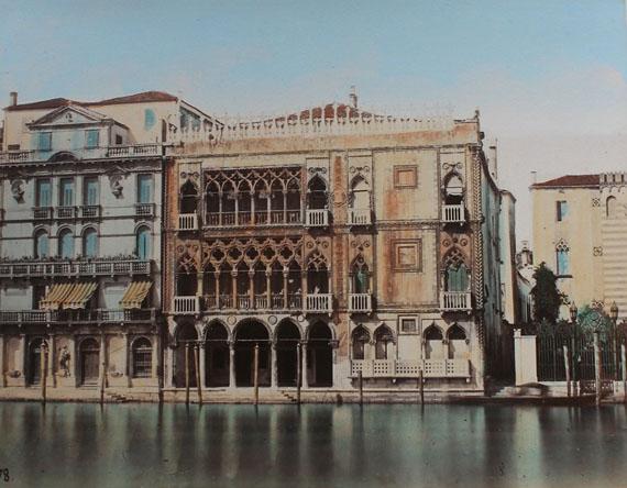 Carlo Naya. Venedig – Canal Grande mit Ca' d'Oro, um 1870/80, kolorierter Albumin-Abzug