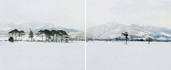 Robert Voit: Snowflakes, Hokkaido, Japan, 2006, C-Print, 250 x 100 cm, Ed. 6 + 2 AP