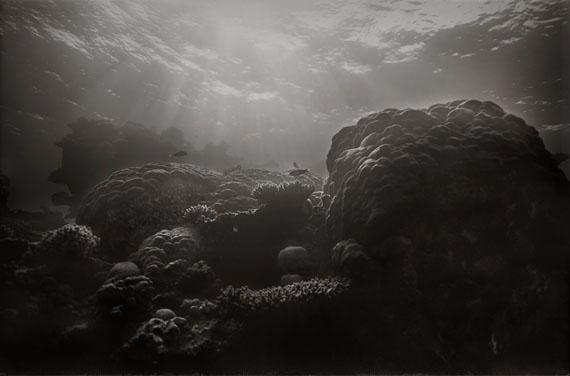 """Gregor Törzs, """"Ultramarine No. 3"""", GT/F 340, 2017, Platin Palladium Print auf Gampi Papier, 23,5 x 36 cm, Auflage 1, © der Künstler, courtesy Persiehl & Heine Galerie für Fotografie"""