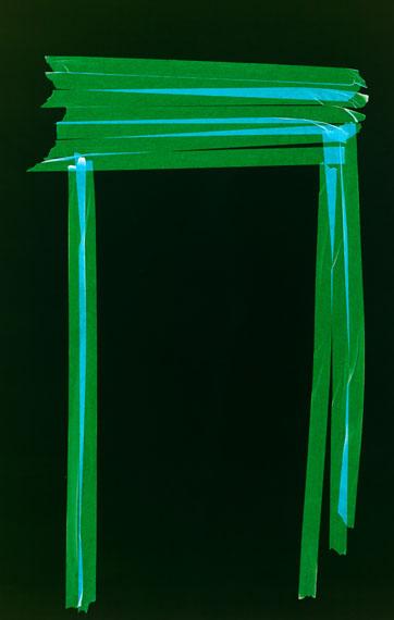 Frank Mädler, Grüner Tisch, 2018, , photogram, mounted, framed, 112.5 x 72 cm, unique, © Frank Mädler