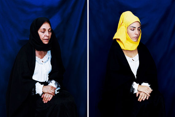 Mother and daughter in mourning dress, 2017 aus: Some of you killed Luisa  © Valeria Cherchi