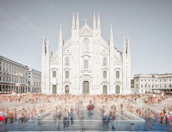 Piazza of shadows Milan 2016 © David Burdeny