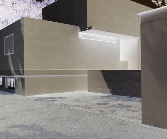 Joachim BrohmMoholy-Nagy Haus, FensterArchivfester Pigmentdruck auf FineArt Papier, montiert auf Alu-Dibond, 2015archival pigment print on FineArt paper, 2015135 x 110 cmEd. 5© Joachim Brohm, VG-Bildkunst, Bonn 2019