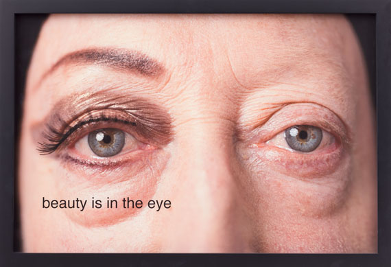 Martha Wilson, Beauty is in the eye, 2014. Photo by Michael Katchen, makeup by Melissa Roth