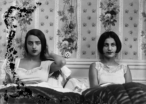 Umrao Singh Sher-GilSisters in bed c. 1932modern silver gelatin print with selenium toningCourtesy of PHOTOINK
