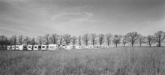 André Kirchner: Süd, Großziethen, an der Rudower Chaussee. Aus der Serie: Stadtrand Berlin 1993/94 © André Kirchner