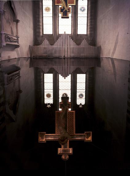 Per Barclay, Cimabue 1, Chiesa di San Domenico, Arezzo, 2014Camera d'olio, stampa a colori su alluminio Dibond, 150 x 200Courtesy GIORGIO PERSANO Torino
