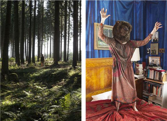 Ute Behrend: Bärenmädchen im Wald / Bärenmädchen im Schlafzimmer © Ute Behrend