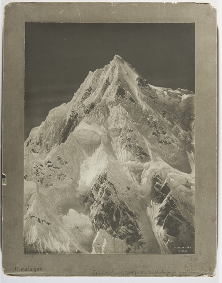 VITTORIO SELLAHS 55, Siniolchun, 22570 feet telephotograph from Zemu Glacier, 1899 Gelatin silver print, printed in 1899 ca.