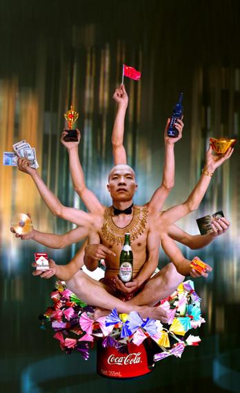 Requesting Buddha Series No.1, 180x110cm, 1999 © WANG Qingsong