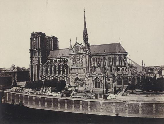 Lot 4005 Edouard-Denis Baldus. Notre-Dame de Paris. Circa 1859. Salt print