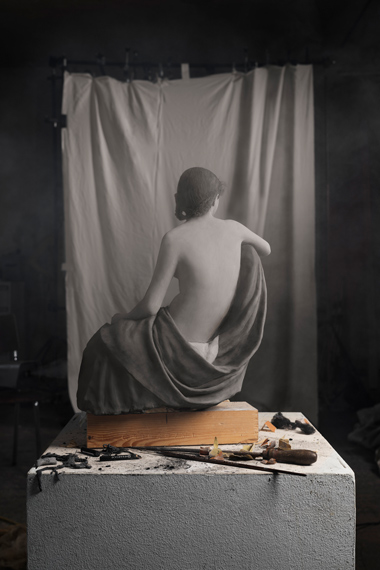 Making of 'Draped Model (back view)' (by Eugène Durieu and Eugène Delacroix, 1854) 2017 © Cortis & Sonderegger _ courtesy The Ravestijn Gallery