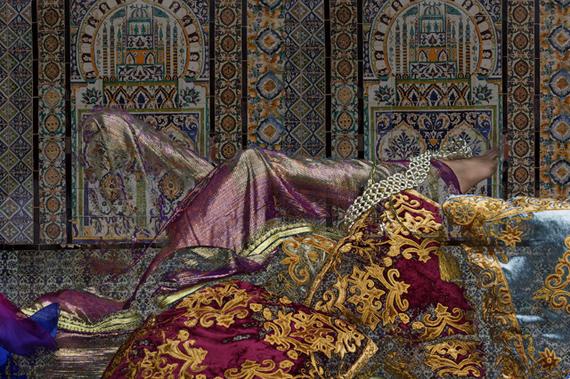 Majida KhattariKholkhal, 2015-2016Pigment print on canvas47 1/5 × 70 9/10 in120 × 180 cmEdition of 1 + 1APL'Atelier 21, Casablanca