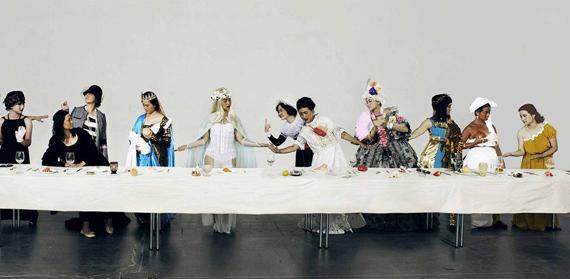 Ye Funa, The Supper of Goddess, 2015, 51,7x150cm, Photography © Ye Funa