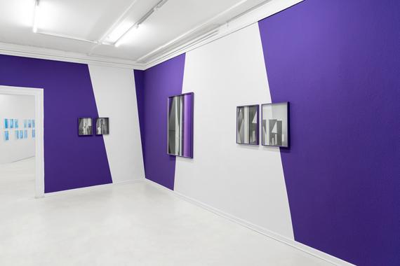"Samuel Henne: ""conditions"", gerahmte Fine Art Prints, WandfarbeInstallationsansicht ""Samuel Henne - shifts & tilts"", Kunstverein Göttingen, 2019"