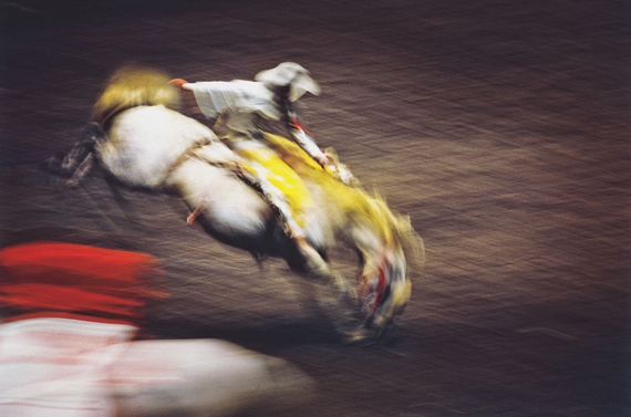 ERNST HAAS: Rodeo, Madison Square Garden, New York (1957)