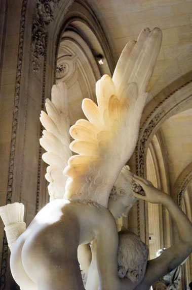 "Nan Goldin: ""Cupid with his wings on fire"", Le Louvre, 2010 © Nan Goldin"