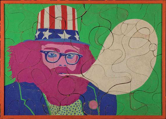 Ulrike Ottinger: Allen Ginsberg, 1966, Puzzle, Acryl auf Pressspan, 85 × 115 cm© Ulrike Ottinger