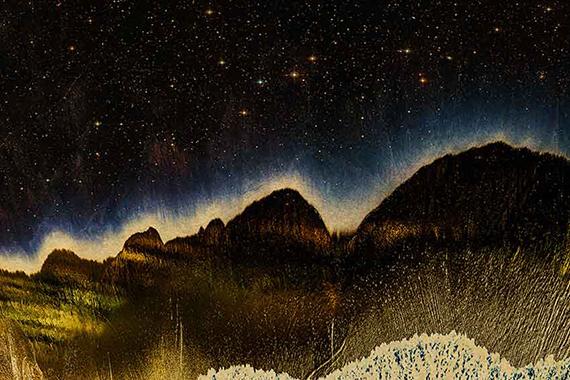 Albarrán Cabrera | Nyx #60001, 2019 | 40 x 50 cm | Pigmente auf Gampi-Papier über Blattgold | Edition 10Courtesy Bildhalle, Zurich