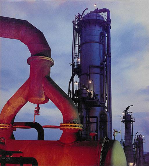 Ludwig Windstosser: Aral, petrol-refinery, 1967, Color print© Staatliche Museen zu Berlin, Kunstbibliothek /Ludwig Windstosser