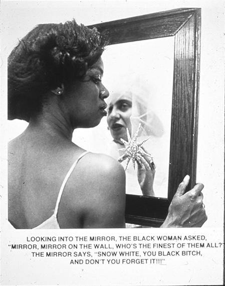 Mirror, Mirror, gelatin-silver print, 1987 © Carrie Mae Weems