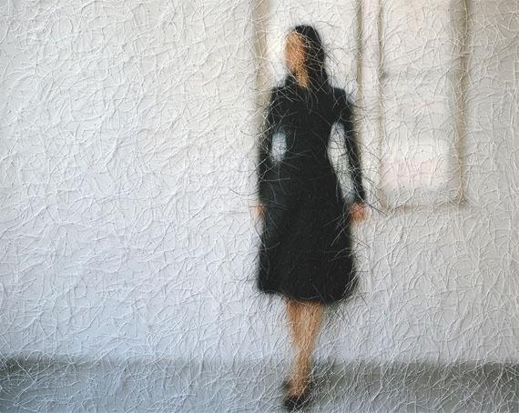 Sissi Farassat: Stitches, 2018, 65 x 81 cm, C-Print embroidered with thread, Unique piece